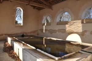Un beau bassin lavoir d'eau très froide