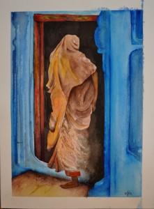 Je vous livre mes trois dernières aquarelles... dans FRANCE l'Uzège indienne-2-004-221x300